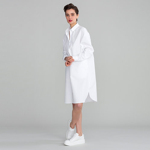Shirt Dress Cannes White