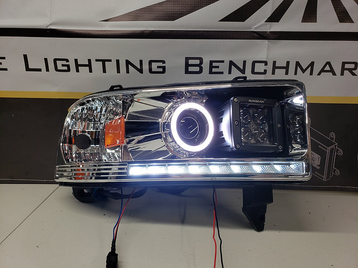 ASOI 2G13: Switchback Halo/LED Pod Projector Headlights