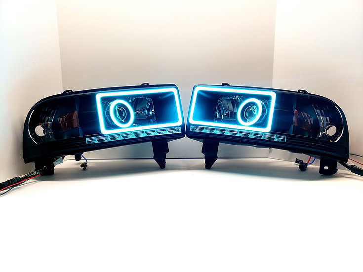 ASOI 2G9: Color Changing Rectangle/Round Halo Projector Headlights