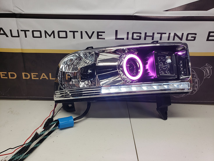ASOI 2G12: Color Changing Halo/LED Pod Projector Headlights