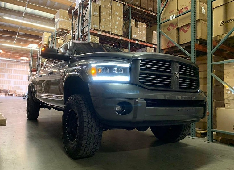 CUSTOM ALPHAREX Pro/LUXX Dual Projector Headlights: Dodge Ram 2006-2009