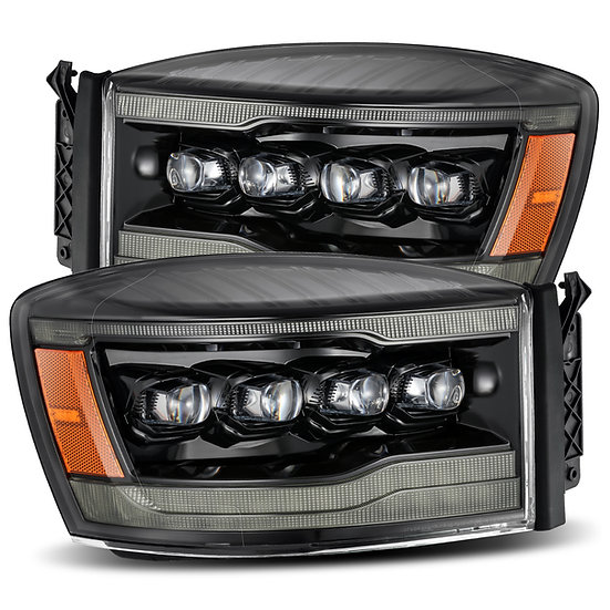 CUSTOM ALPHAREX Nova Quad Projector Headlights: Ram 2006-2009