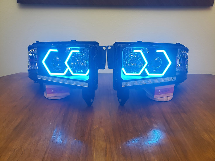 STYLE 4: Color Changing Projector Headlights - 1994-2002 Ram