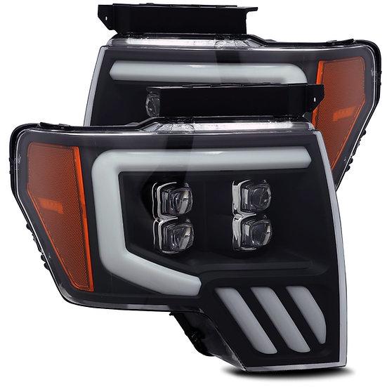 CUSTOM ALPHAREX NOVA Quad Projector Headlights: F150 2009-2014