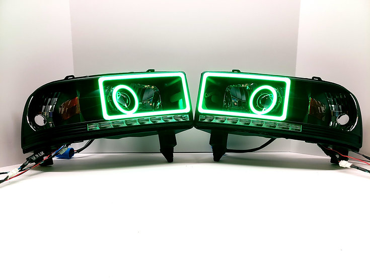 STYLE 2: Color Changing Projector Headlights - 1994-2002 Ram