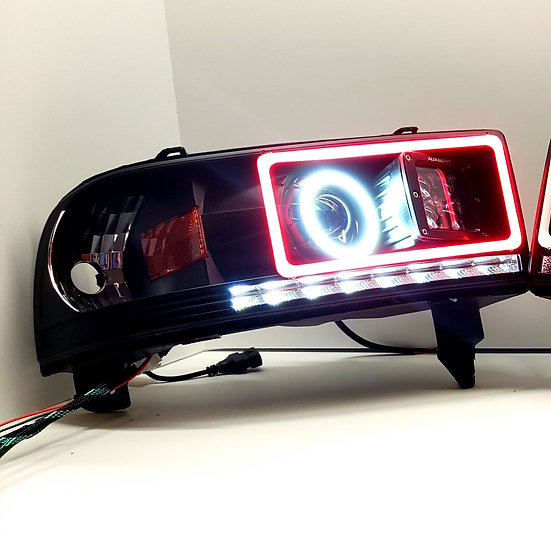 ASOI 2G8: RGB, Switchback Round, LED Pod Projector Headlights