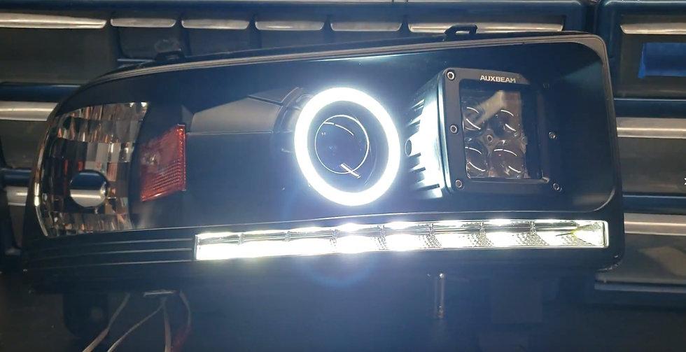 STYLE 3: Switchback Halo Projector Headlights: 1994-2002 Ram
