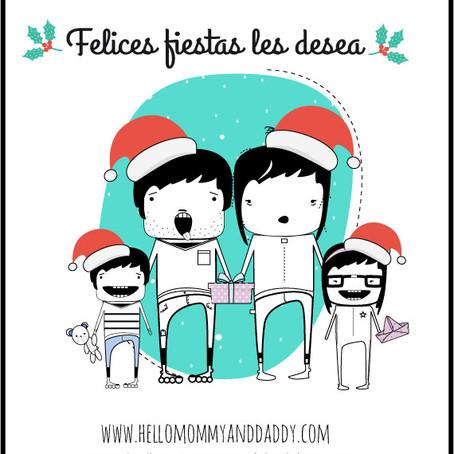 Felices fiestas les desea hellomommyanddaddy
