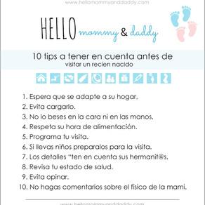 10 tips a tener en cuenta antes de visitar un recien nacido