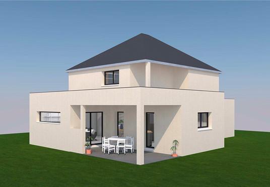 Projet maison Toit mixte Résidences Caennaises