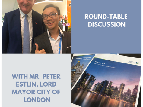 Chye Kit's FinTech Round-Table Discussion with Mr. Peter Estlin, Lord Mayor, City of London