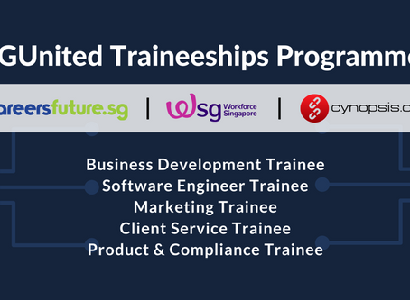 We Are Offering SGUnited Traineeship Opportunities!