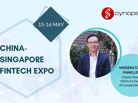 Join Cynopsis Solutions at the China-Singapore FinTech Expo 2019