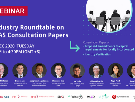 Join Us At The Upcoming Roundtable Webinar On MAS Consultation Papers