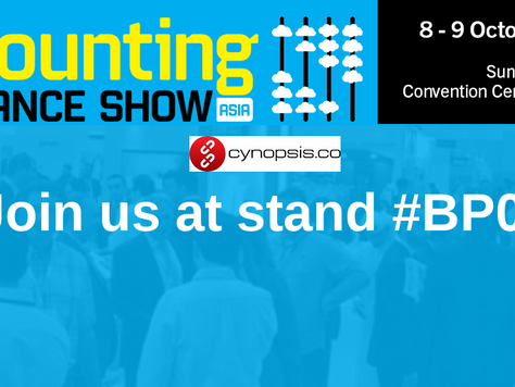 Cynopsis Solutions Is Going To Exhibit At The Accounting & Finance Show Asia
