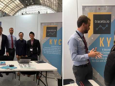 Proud to be showcasing traceto.io at the world's largest Blockchain conference and exhibition