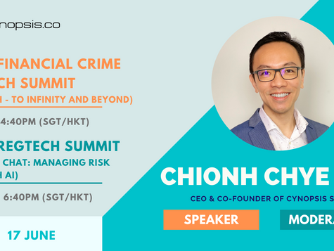 Join Us At The Anti-Financial Crime FinTech Summit And 2021 RegTech Summit On 17 June!