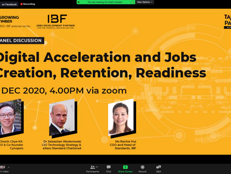 Concluding The IBF Webinar - Digital Acceleration And Jobs Creation, Retention, Readiness