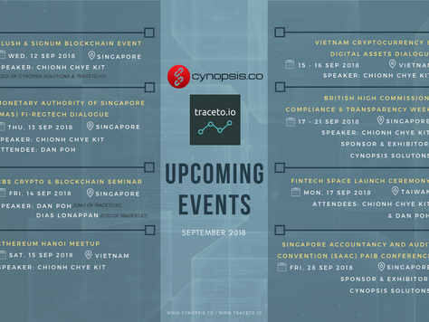 September's Events with Cynopsis & traceto.io