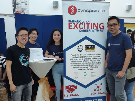Cynopsis & traceto.io at NTU SPMS Job and Internship Fair 2019