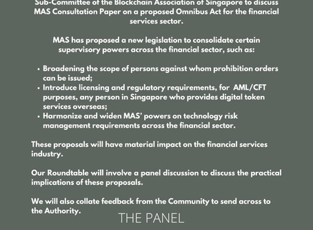 Join Us Now! Proposed Omnibus Act Consultation Paper Webinar