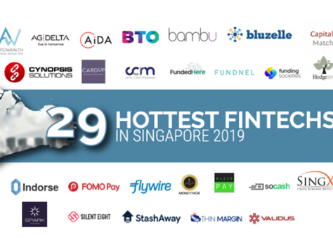 Cynopsis Solutions named as one of the 29 hottest FinTechs in Singapore this 2019