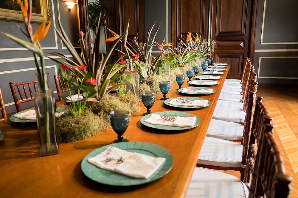 mesa posta, mesa de casamento, casamento tropical, buffet de casamento