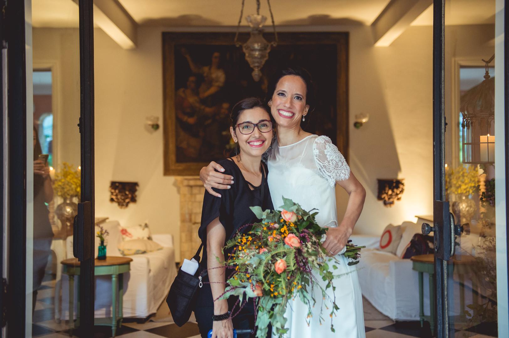 Cerimonialista com noiva
