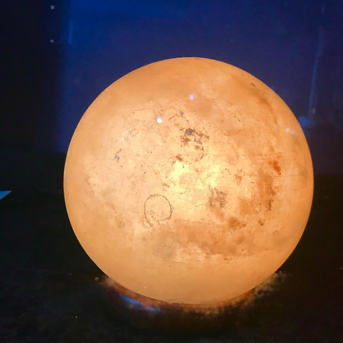 "Himalayan Salt Sphere Lamp 6.5"" diam"