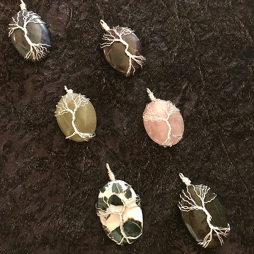 Wire Wrapped Tree Stone