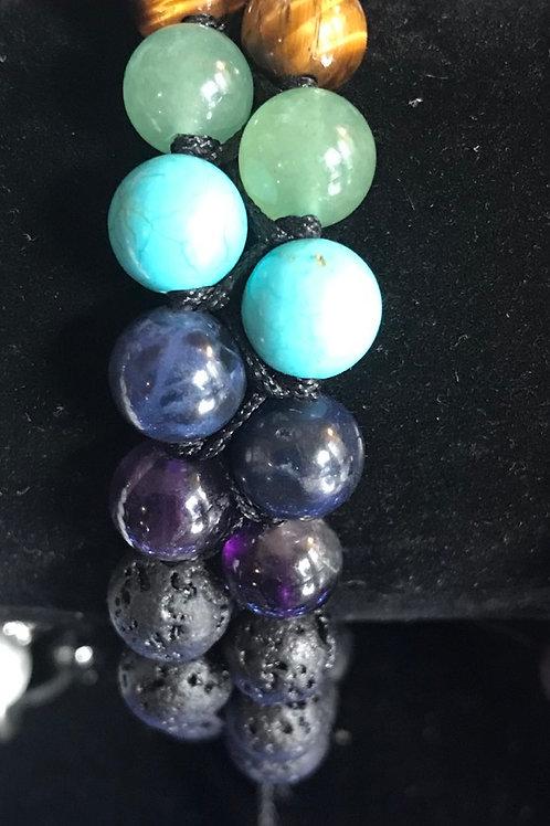 Double Strand Chakra Bracelet