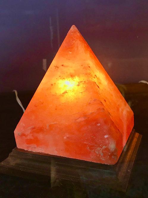 "Pyramid Salt Lamp 5""w X 7.5""h"