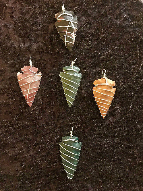 Wire Wrapped Arrow Head Stones