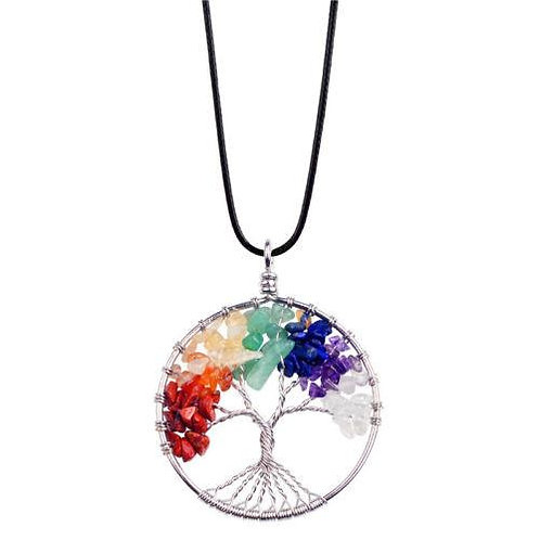 Tree of Life Gemstone Pendant