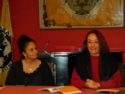 With author Fátima Rolo Duarte