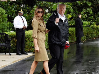 Melania Trump Wears Ralph Lauren and  Snakeskin Stilettos to Hurricane Damaged Houston