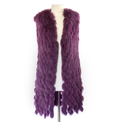 J Mendel purple fox gilet.jpg
