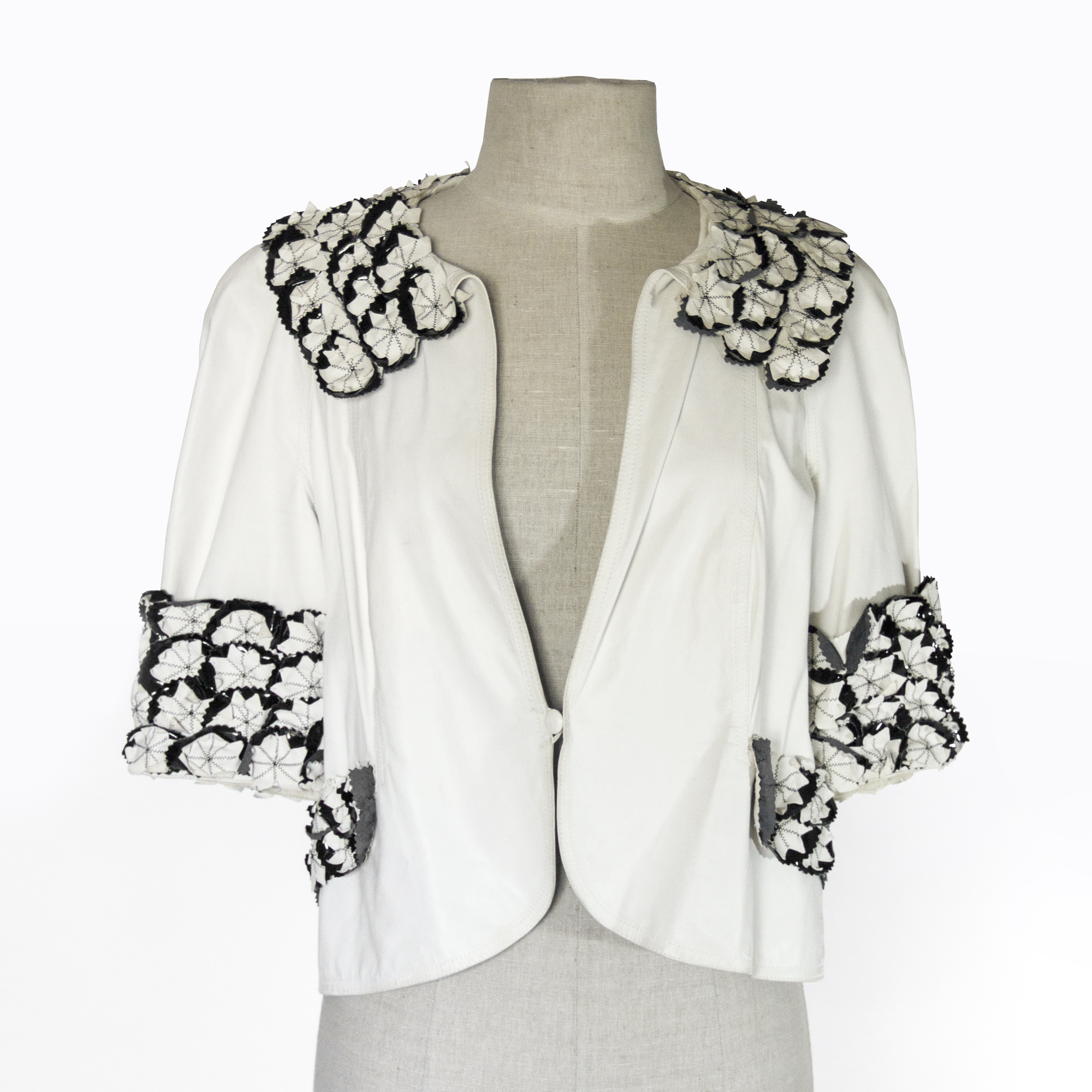 Fendi White Leather Jacket.jpg