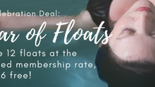 Salty Celebration: Day 2 - a year of floaty bliss!