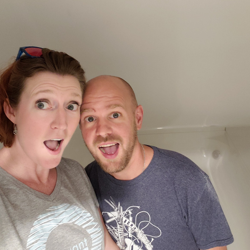 We are seriously giddy inside a float room.