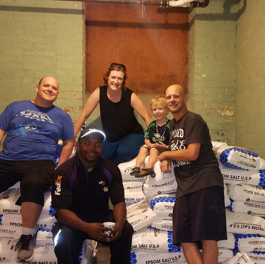 Shout out to our friend Kevin, our little man Chase, and Eli from FedEx for all the heavy lifting!