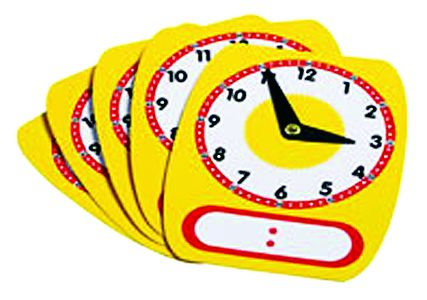 Write-On/Wipe Off Clock Faces (Package of 5)