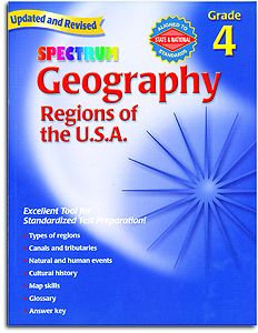 Spectrum Geography - Regions of the U.S.A. - Grade 4