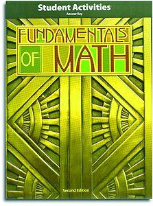Fundamentals of Math - Activities Manual Teacher's Edition