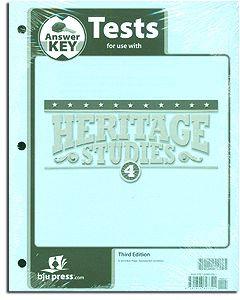 Heritage Studies 4 Tests Answer Key