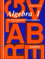 Algebra 1 - Solutions Manual