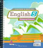 English 5: Writing and Grammar - Home Teacher's Edition