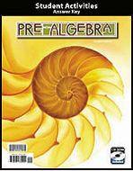 Pre-Algebra - Activity Manual Teacher's Edition
