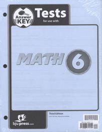 Math 6 - Tests Answer Key