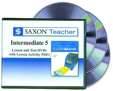 Saxon Teacher - Math 5 Intermediate DVDs
